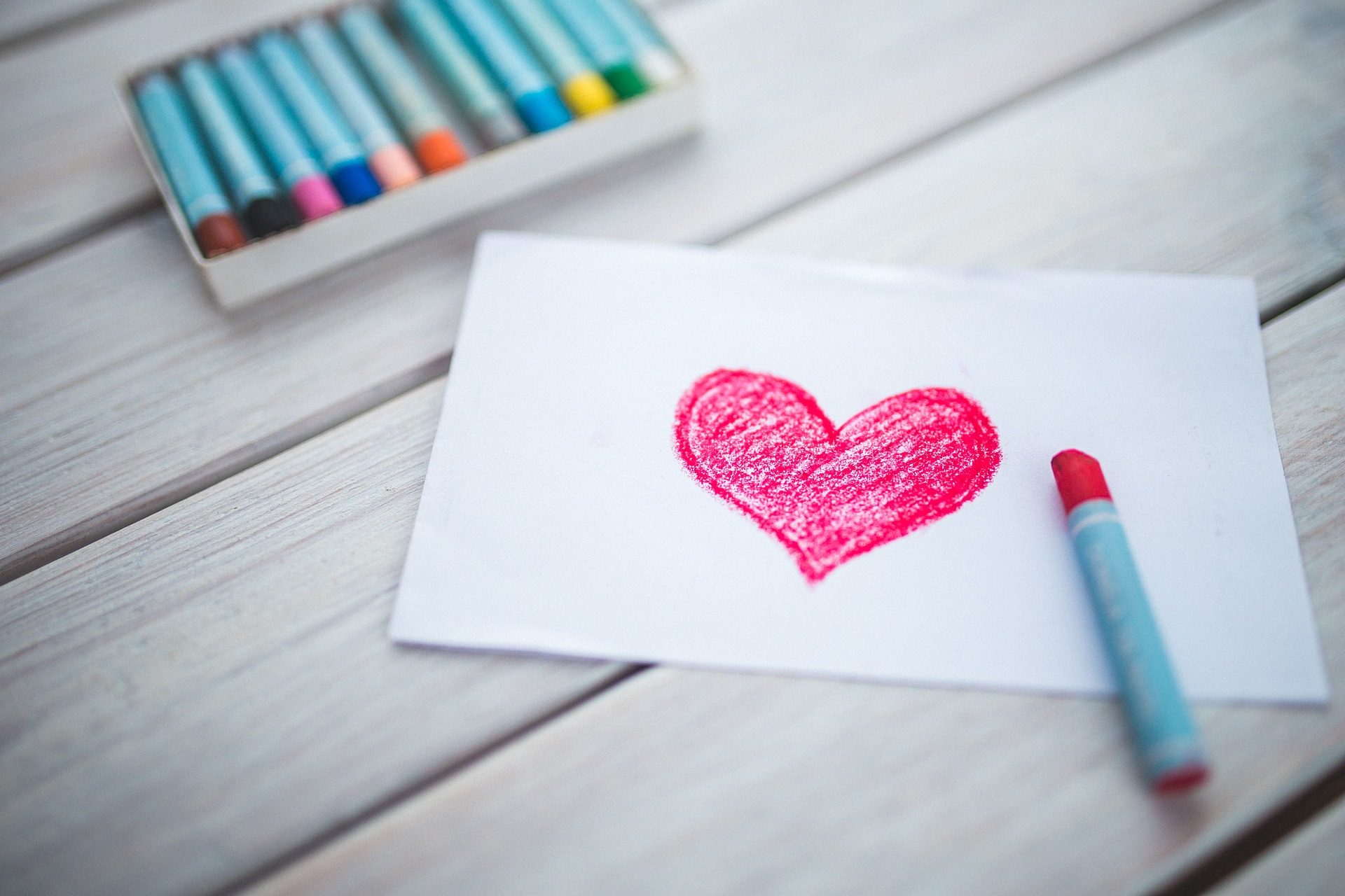 A drawing of a heart