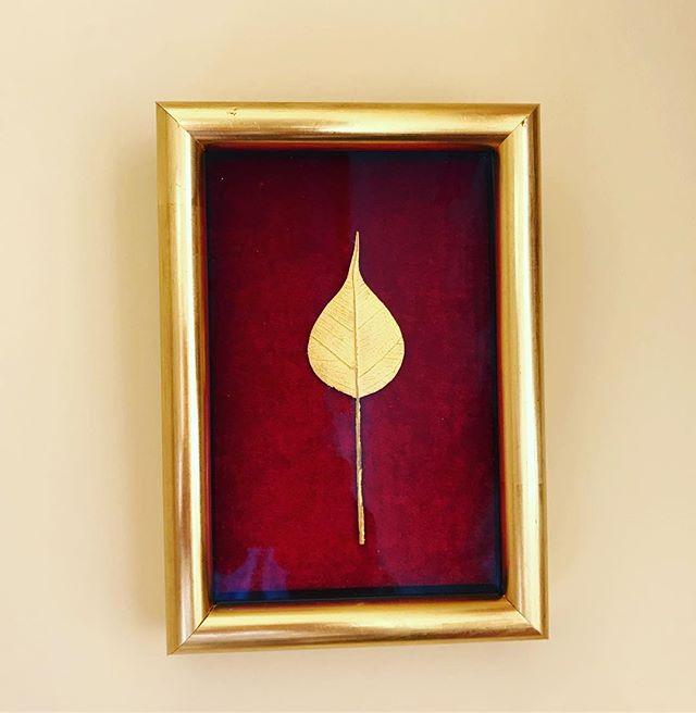 Burmese gold leaf on red velvet... hand made gold frame with anti reflective glass...#bespokeframing #londonframers #special #burmeseart #conservationframing