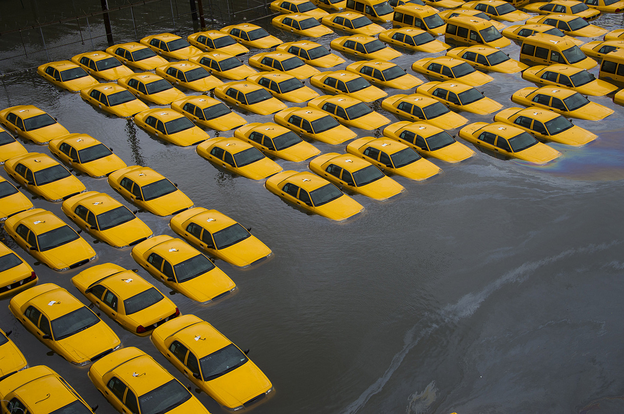Transit in New York is going to be rough for a little while.    motherboardtv :      THIS REALLY HAPPENED    Hurricane Photos Worthy of a Dystopian Film - by Brian Merchant   Photo from  WNYC