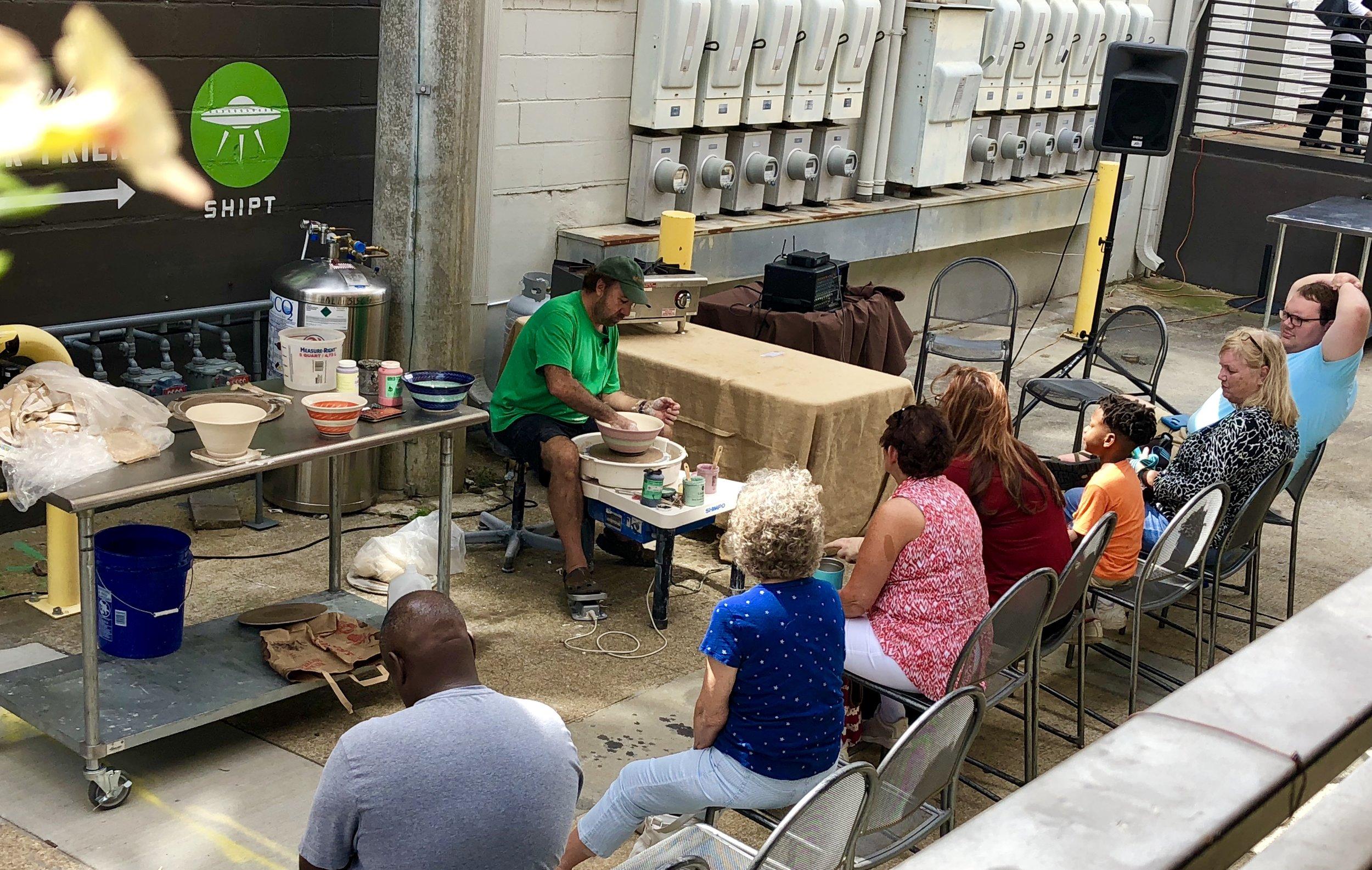 Maker Demo Adam Snyder Green Mountain Ceramics crowd horizontal.jpeg