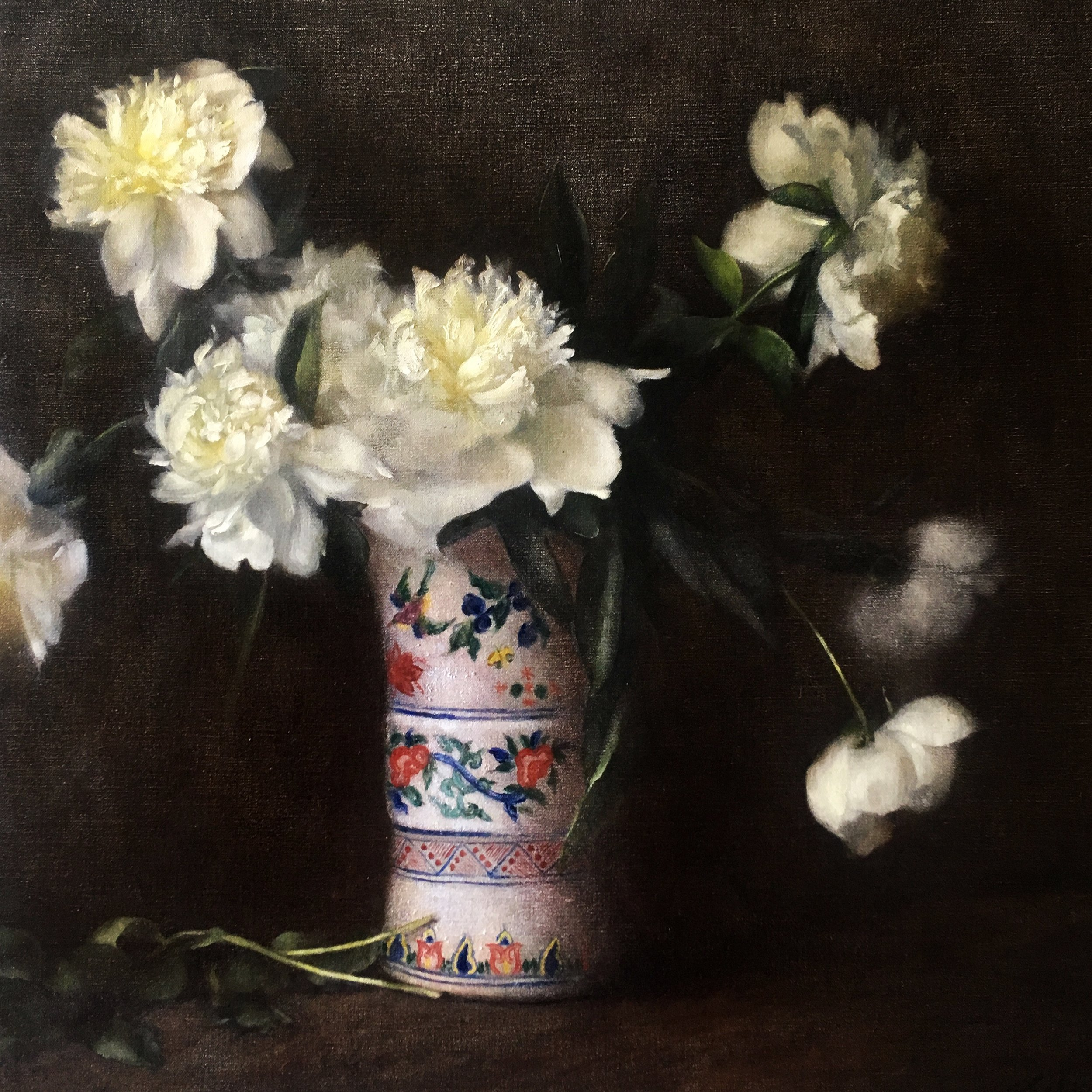 Peonies in Family Vase