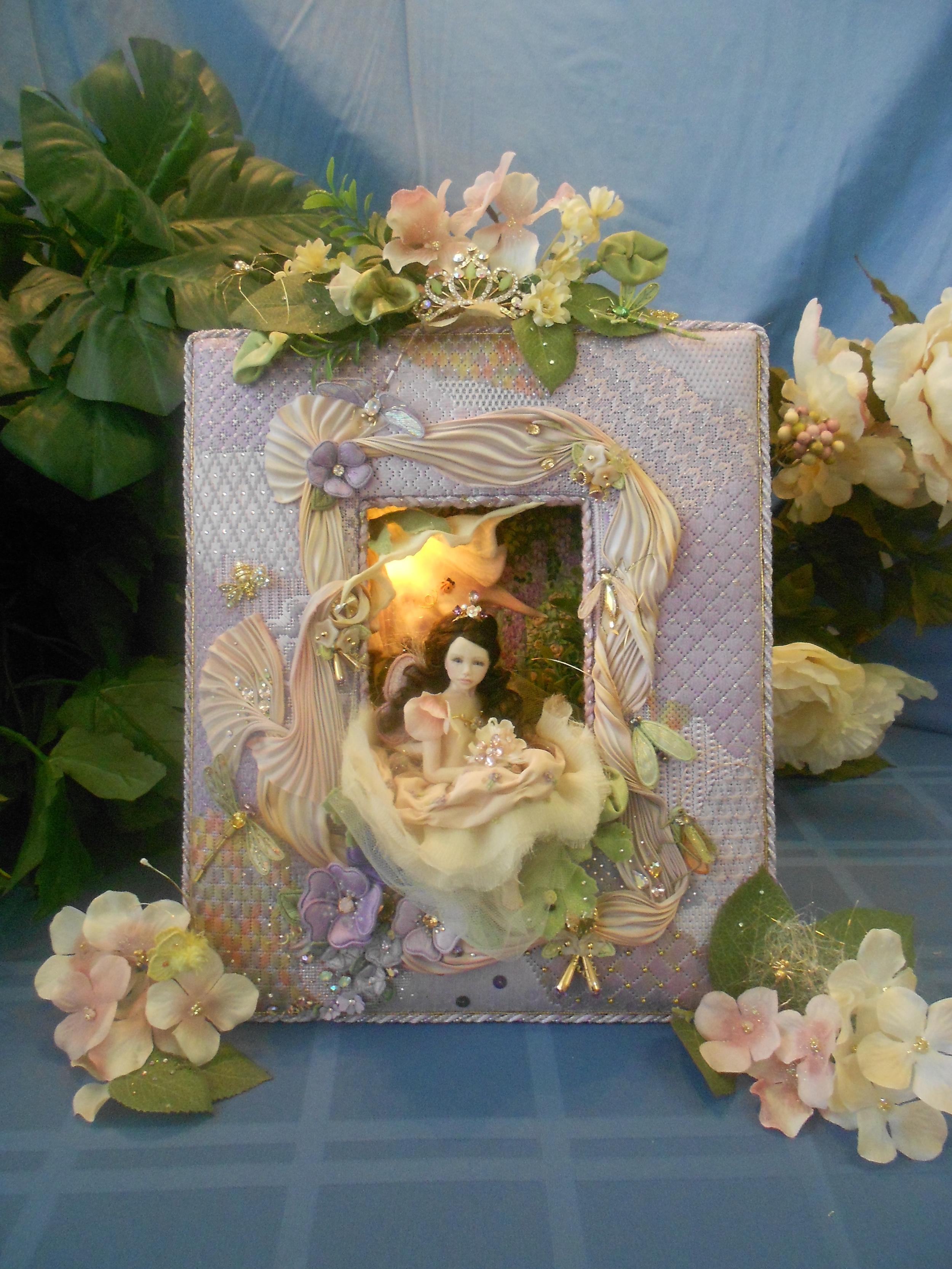 Needlepoint Frame Fairy