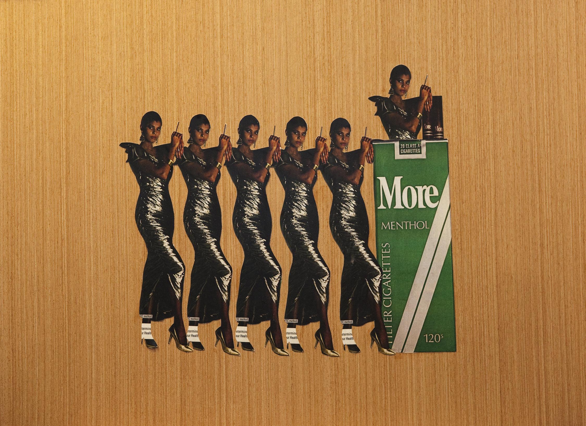 Smoke Up, Nigga #2   2013 24 x 19 Mix media collage on board