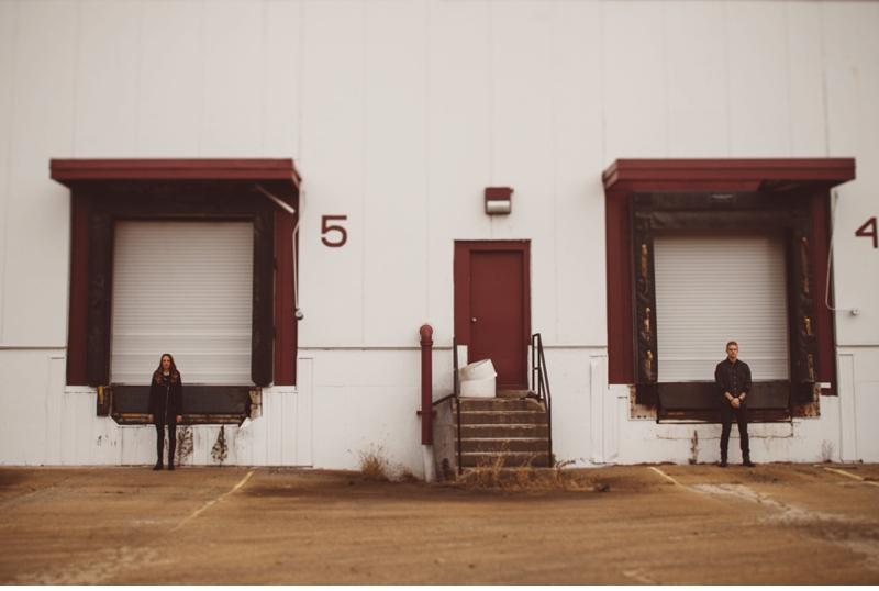 loading dock couple engagment