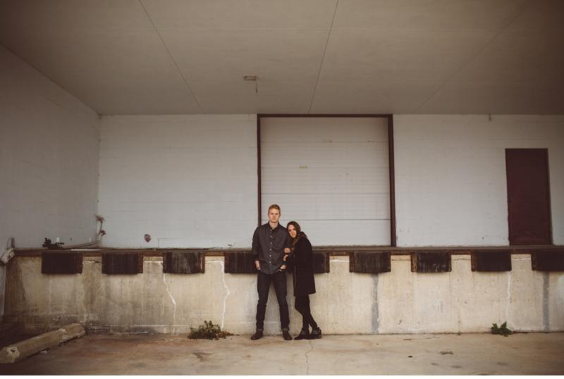 chicago loading dock engagement shoot
