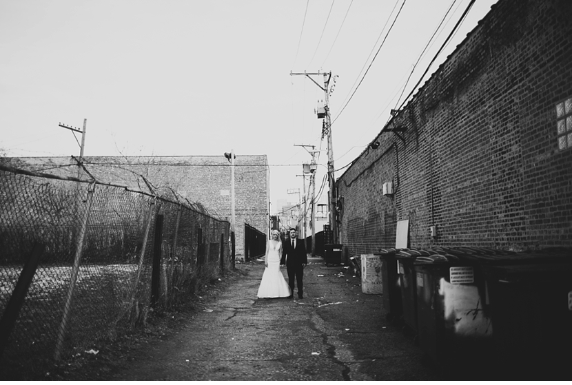 bride in alley