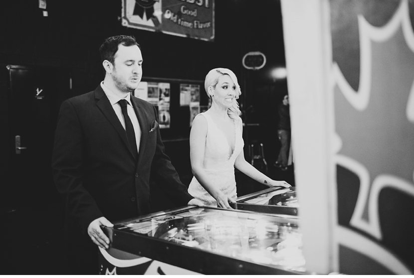 pinball bride and groom