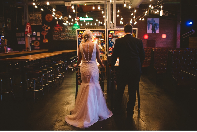 chicago pinball machine wedding