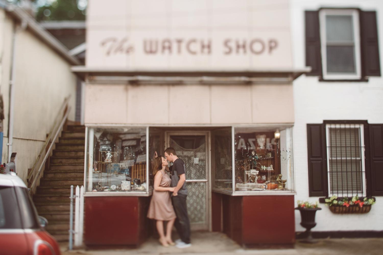 antique store engagement session