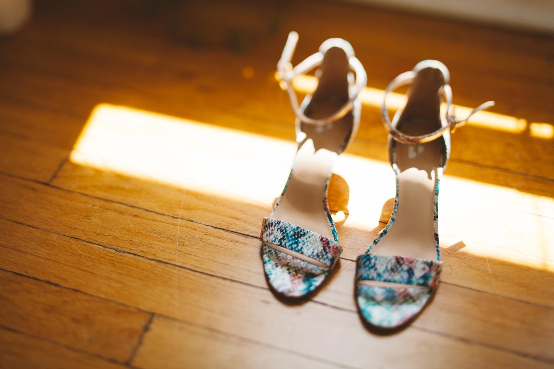 colorful bride shoes