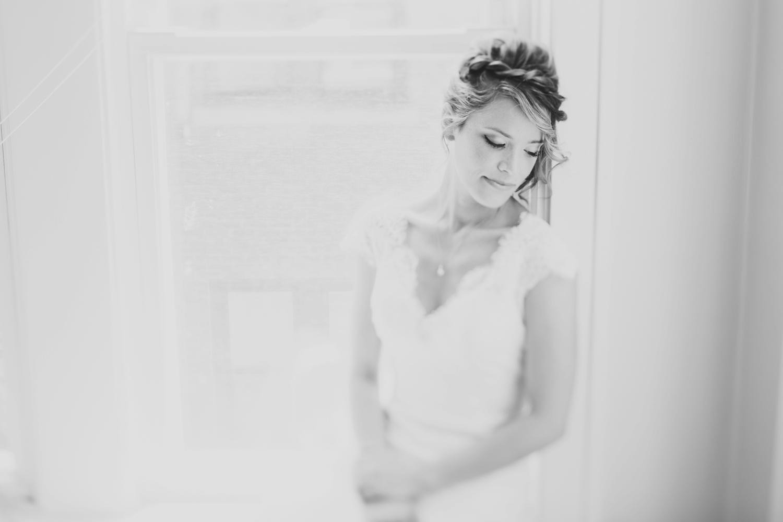 moody bridal portrait