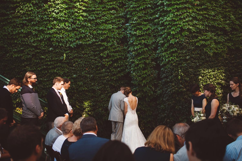 bride and groom communion