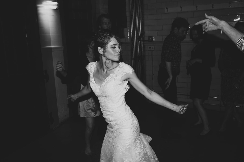 reception dancing bride