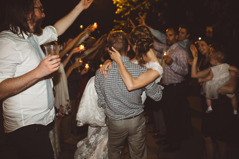 bride and groom formal exit