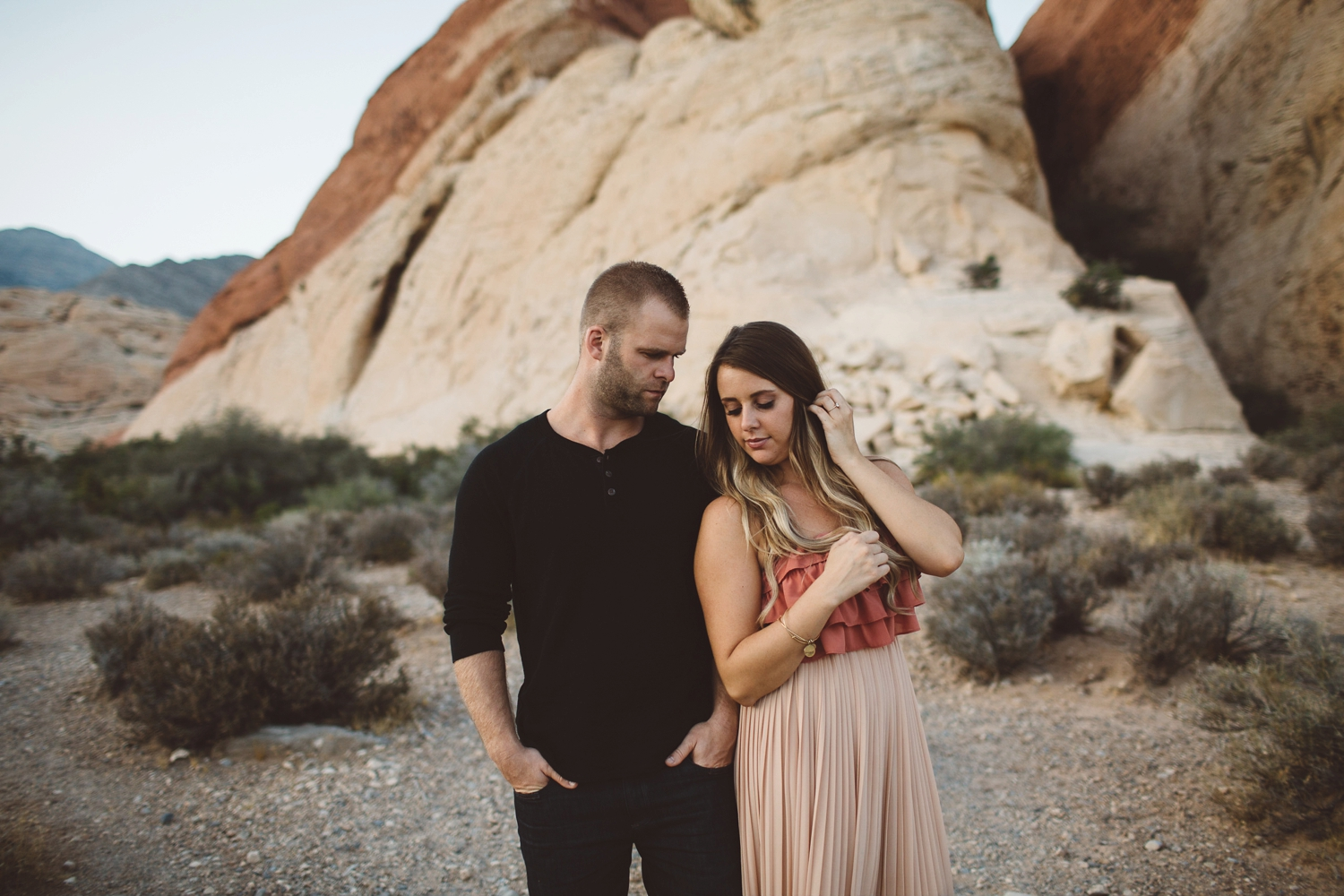 authentic red rock canyon engagement