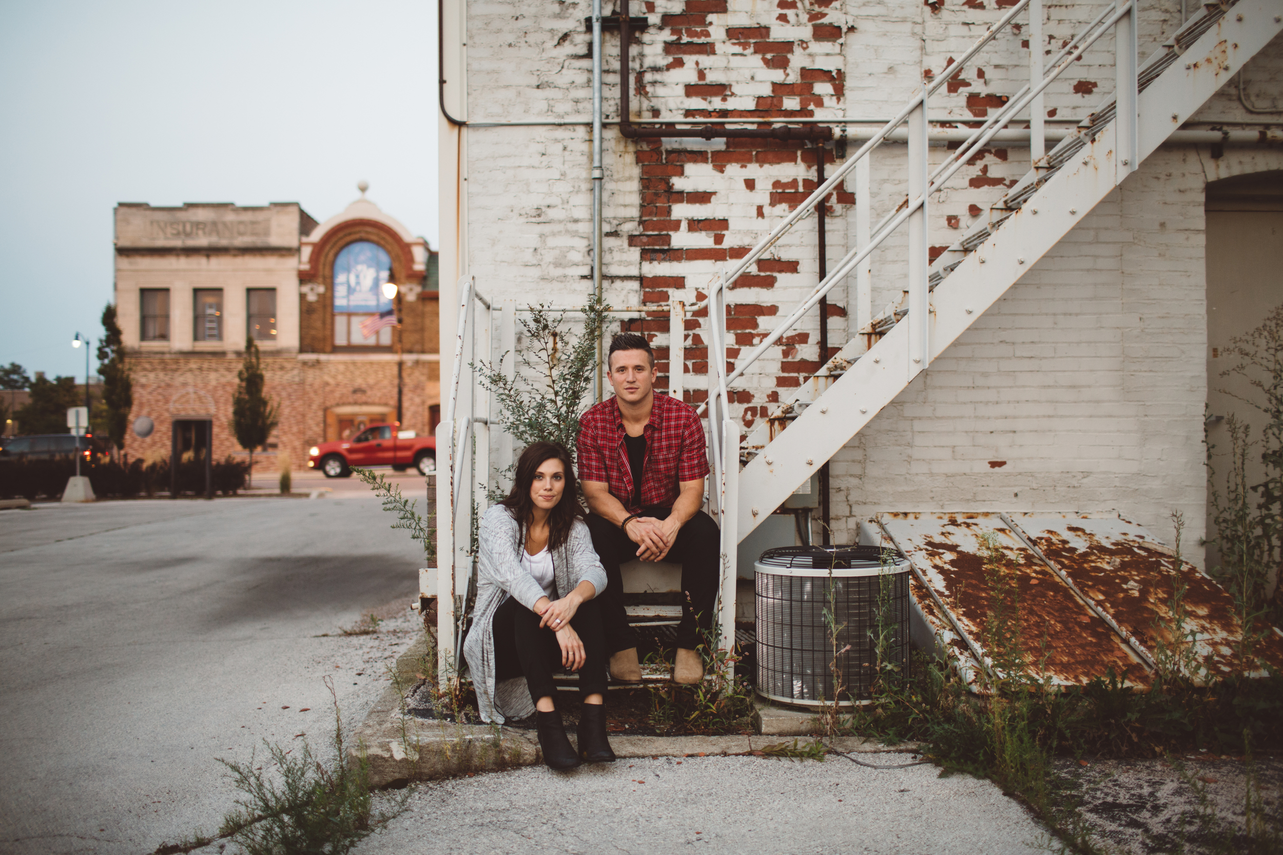 grand rapids warehouse engagement photographer