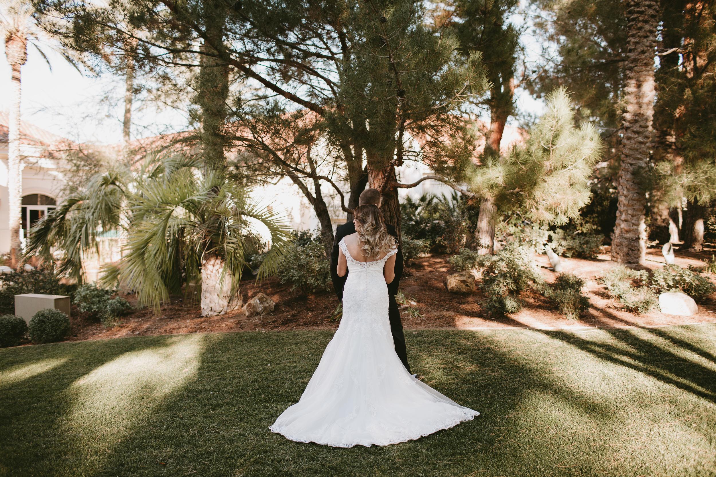 bridal gown back shot