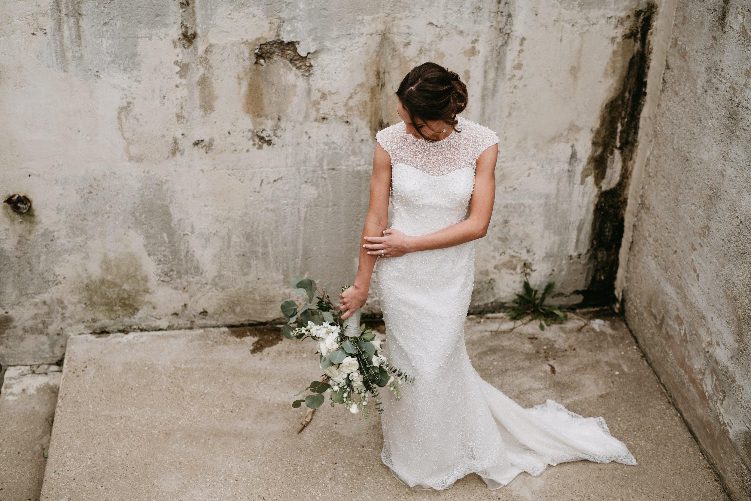 grunge industrial wedding photographer
