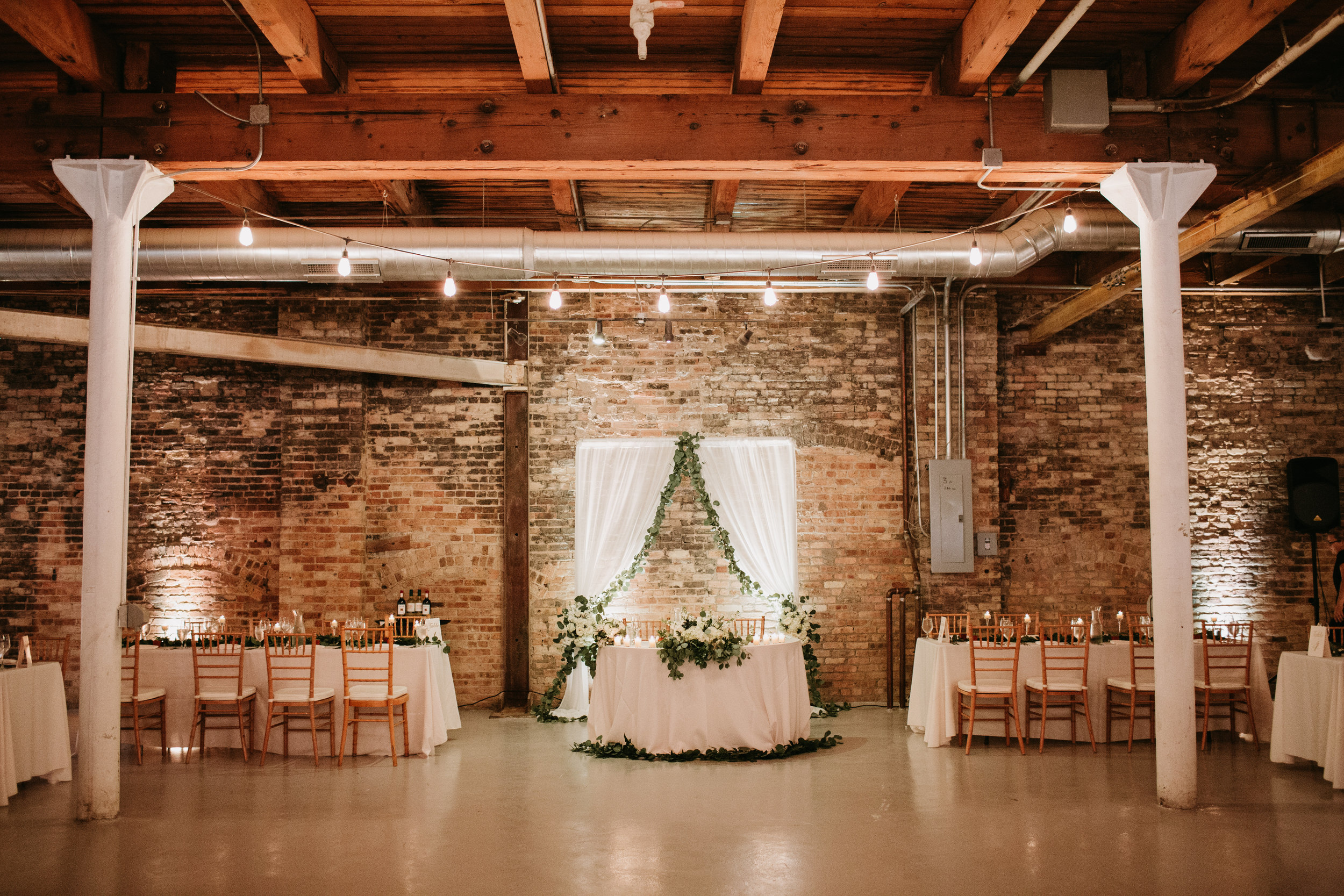 couples reception table