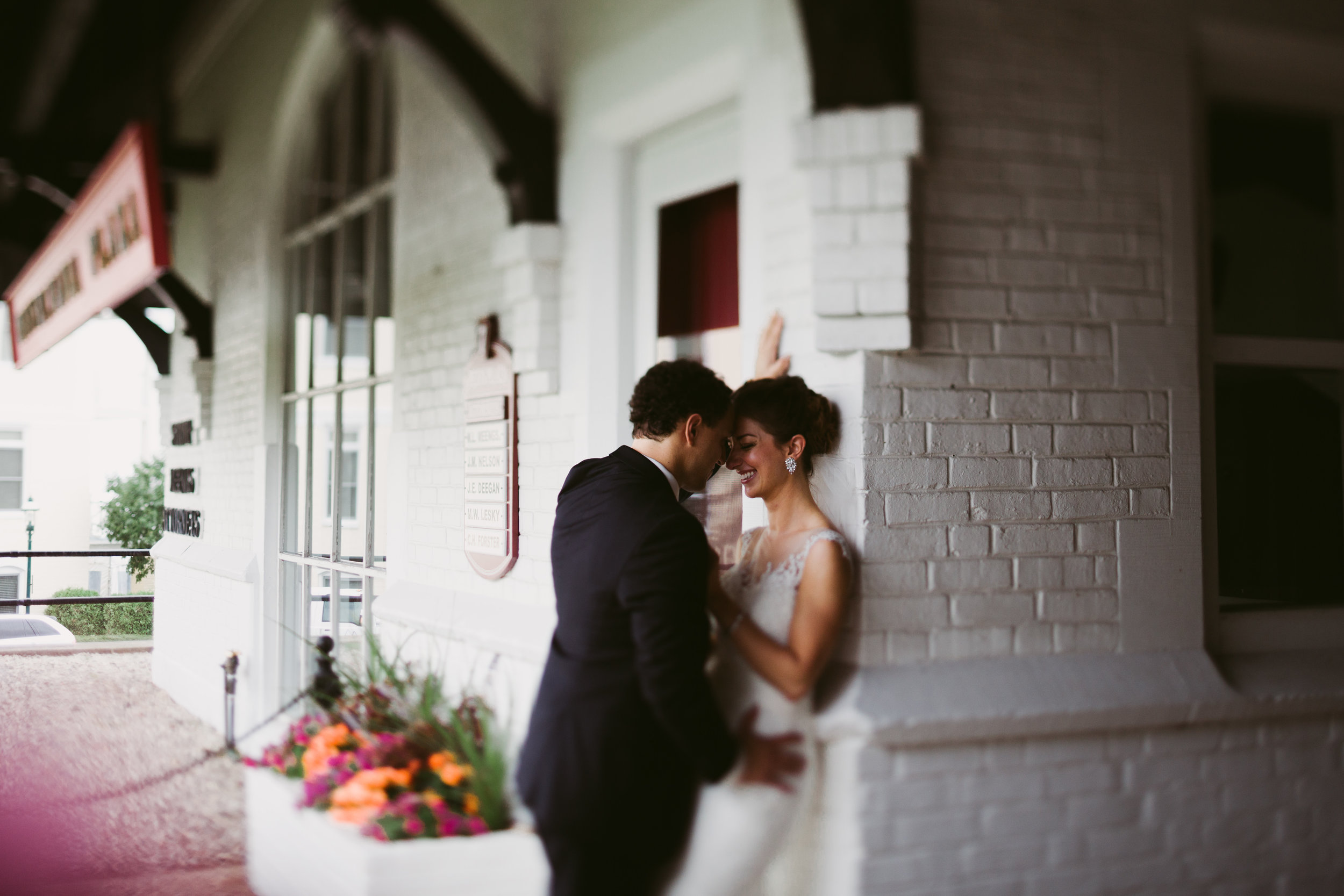 petoskey train station wedding photos