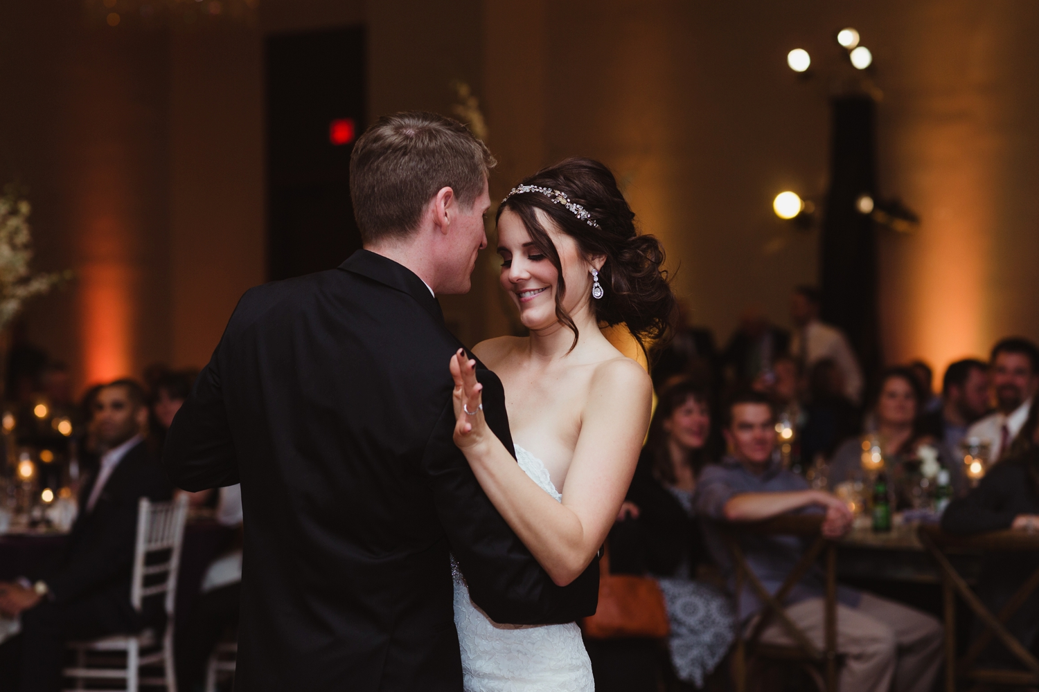 bride and groom dancing at wedding in peoria