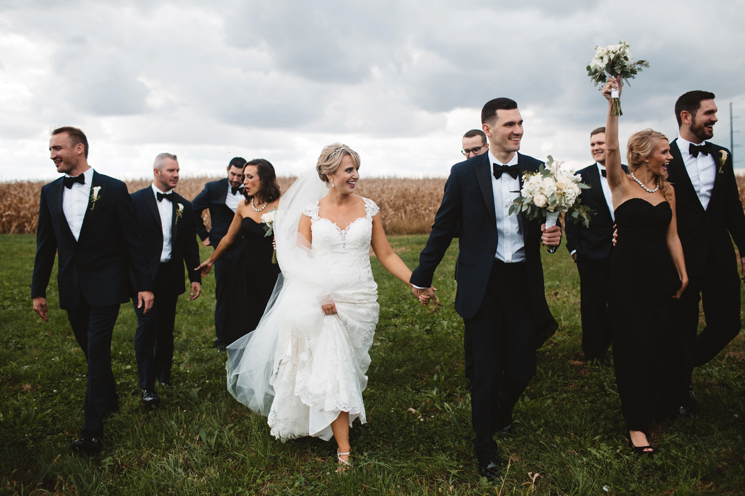 rustic outdoor midwest wedding