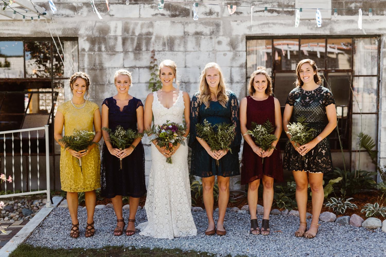 jewel toned bridesmaids dresses