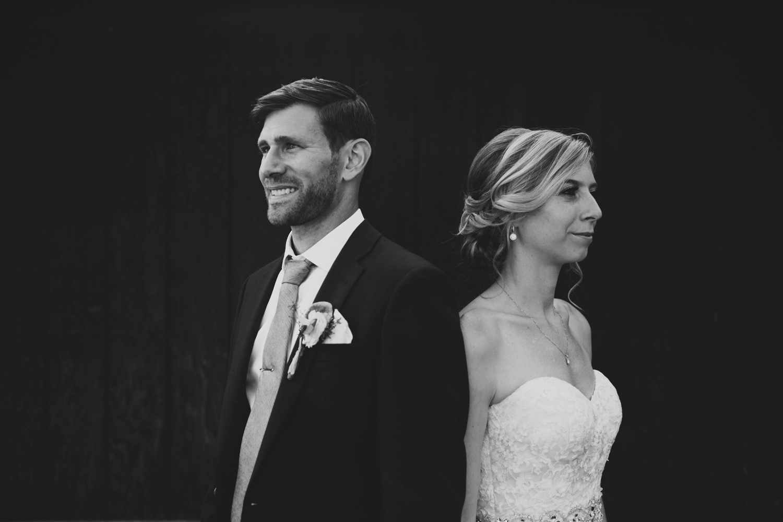 edgy upstate new york wedding couple