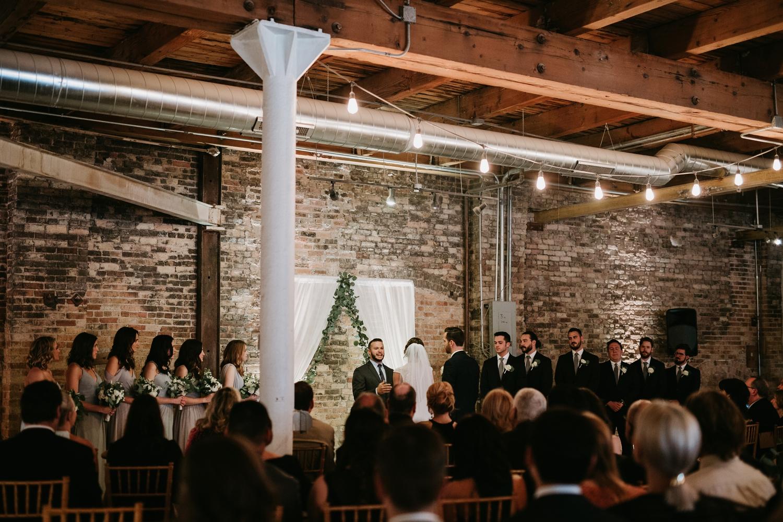 chicago kenmare loft wedding ceremony