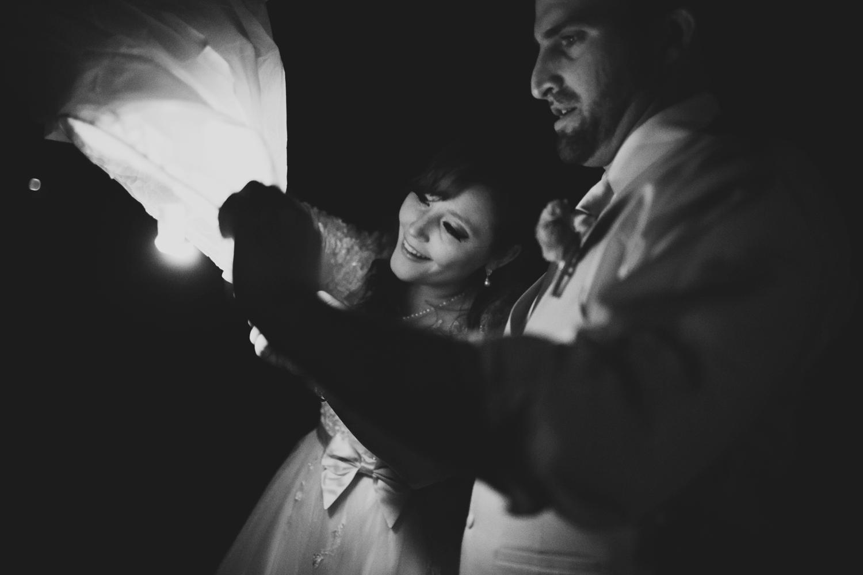 chinese lantern wedding sendoff in michigan