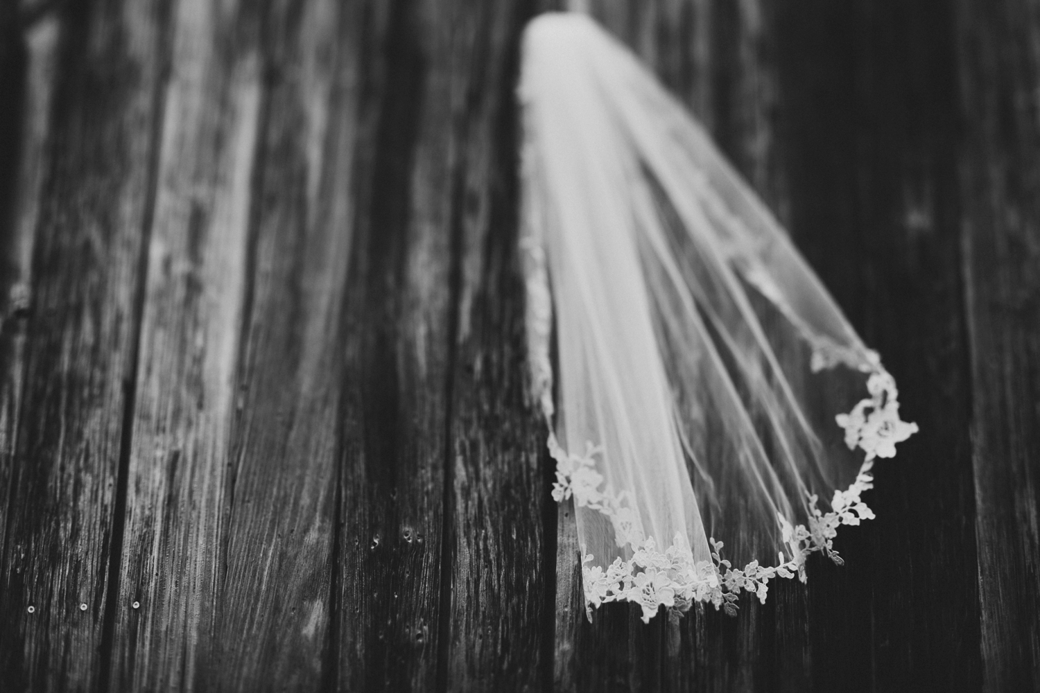 intricate details on bottom of veil