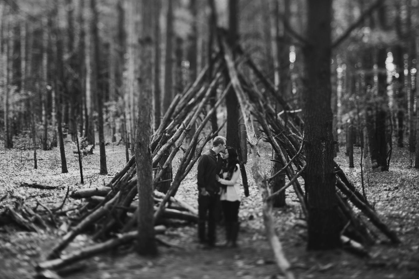 intimate woodsy michigan wedding