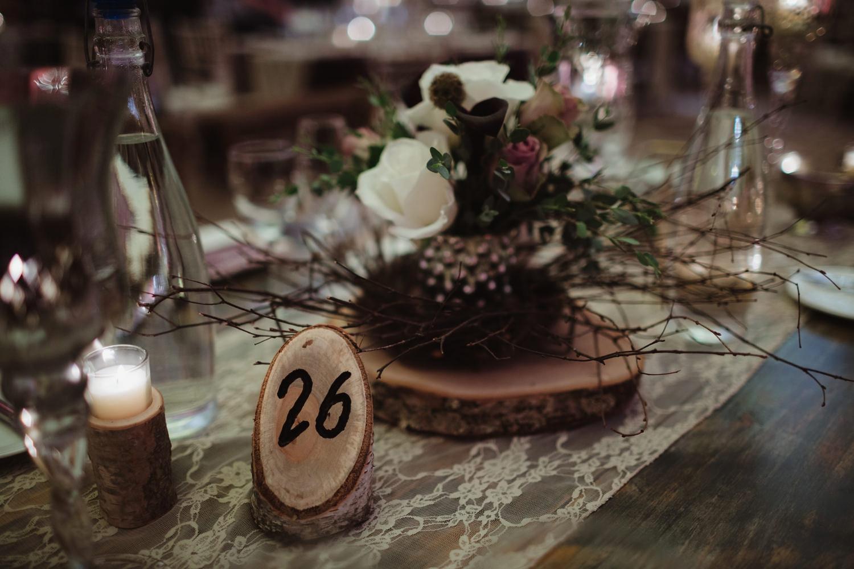 burgendy florals for rustic diy wedding reception