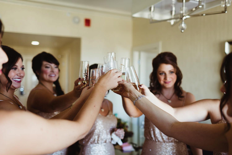 custom champange glasses as a bridesmaids gift in grand rapids