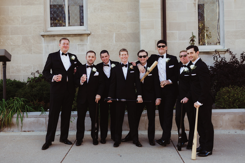 fun and casual groomsman photos