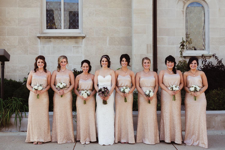urban setting for detroit bridesmaids photos