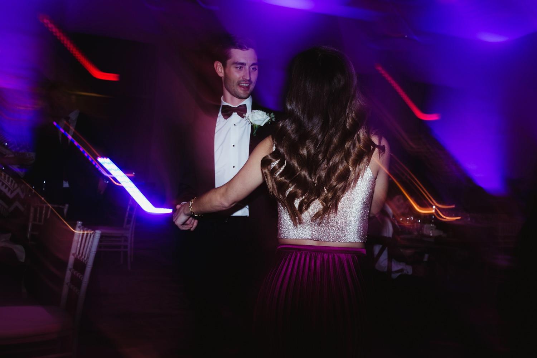 light trail lighting for wedding reception photographer