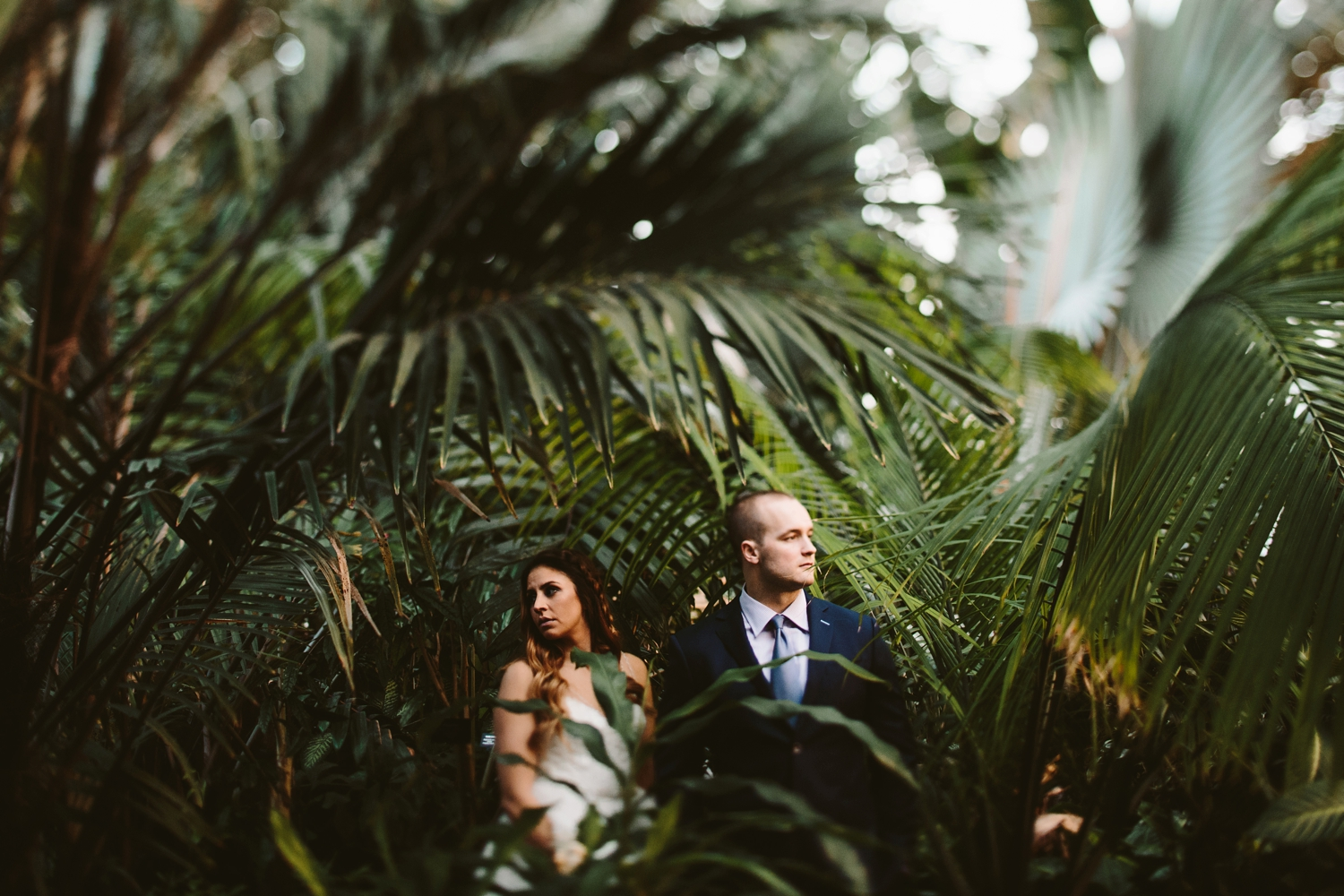 Moody and edgy lincoln park conservatory elopement
