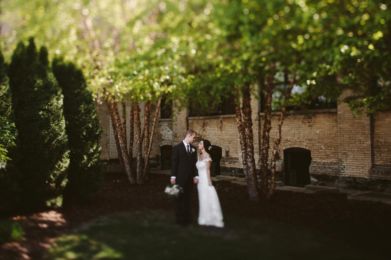 wedding ceremony at baker lofts