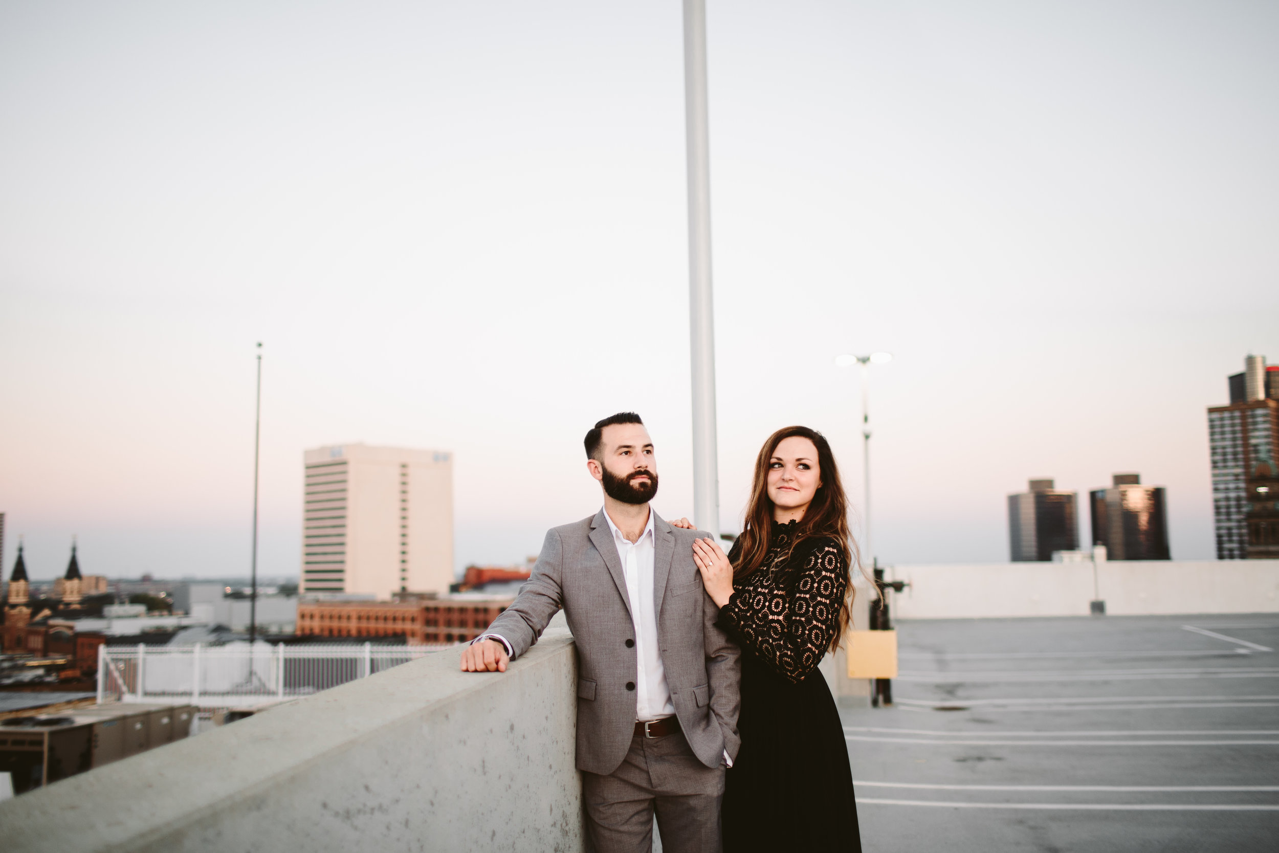 sophisticated couple during western michigan wedding