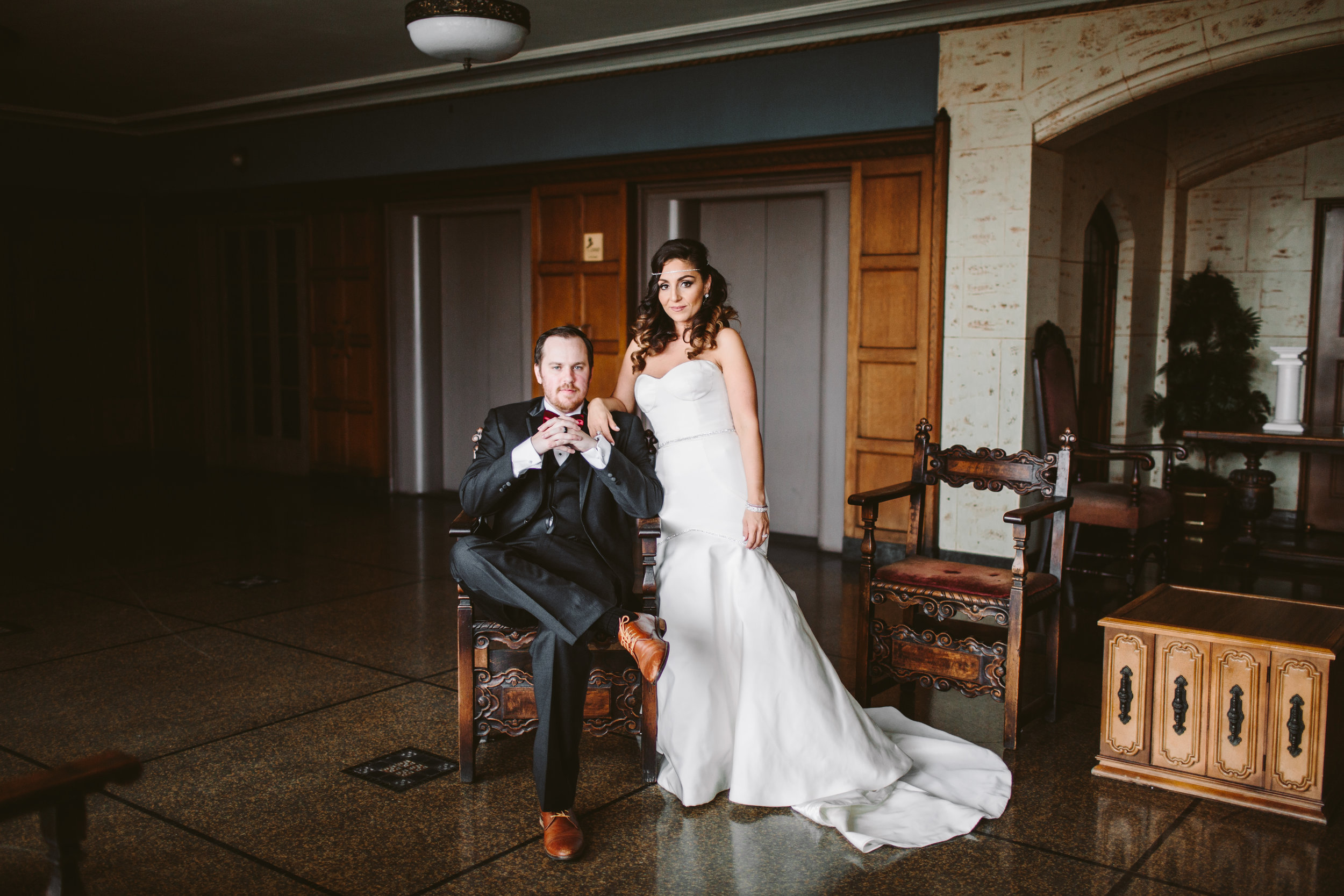 art deco couple in detroits masonic temple