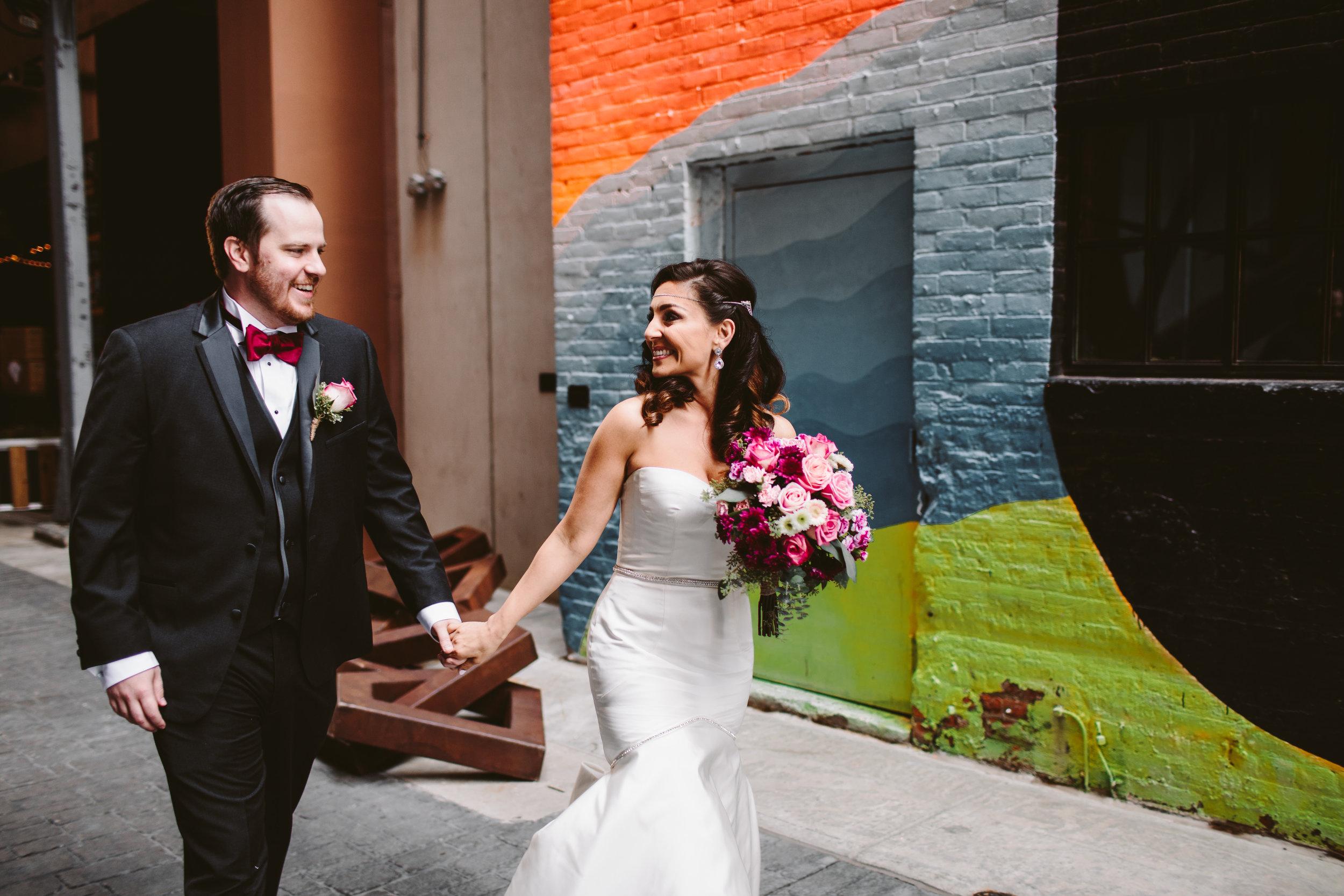 detroit belt z lot graffiti wedding