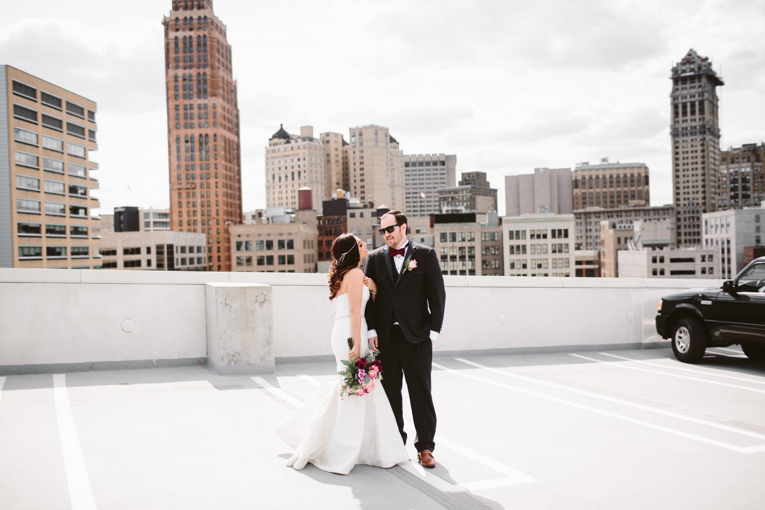 michigan rooftop wedding photographer