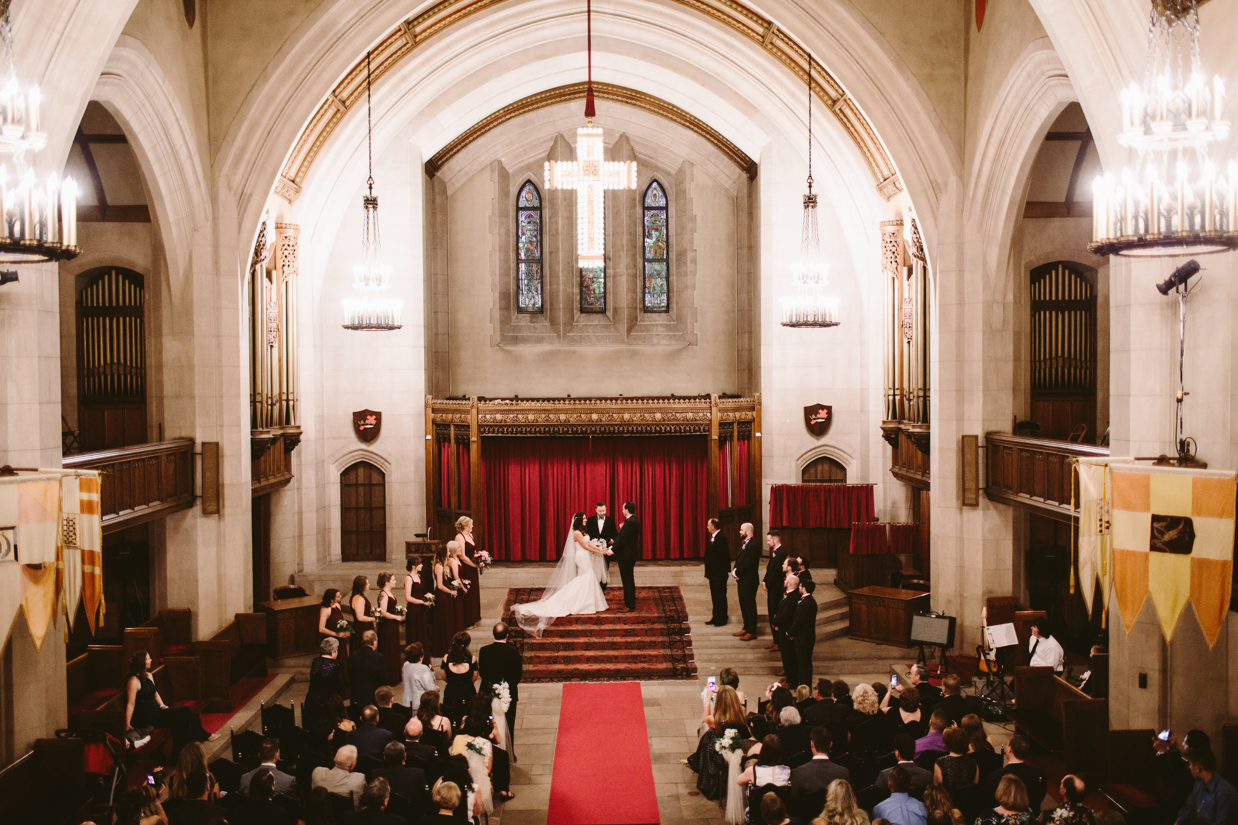 historical detroit theatre wedding ceremony