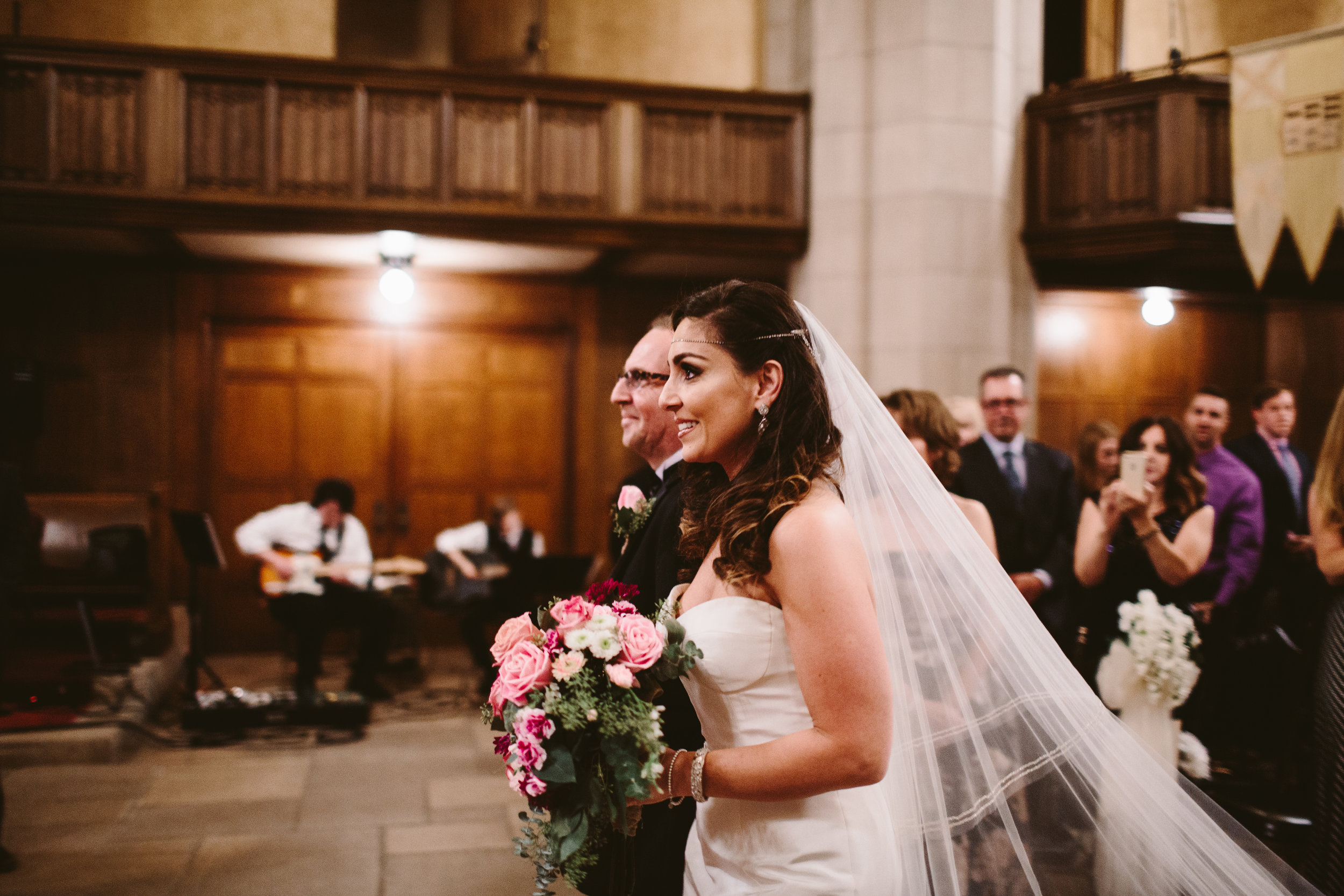 wedding in the downtown detroit masonic temple
