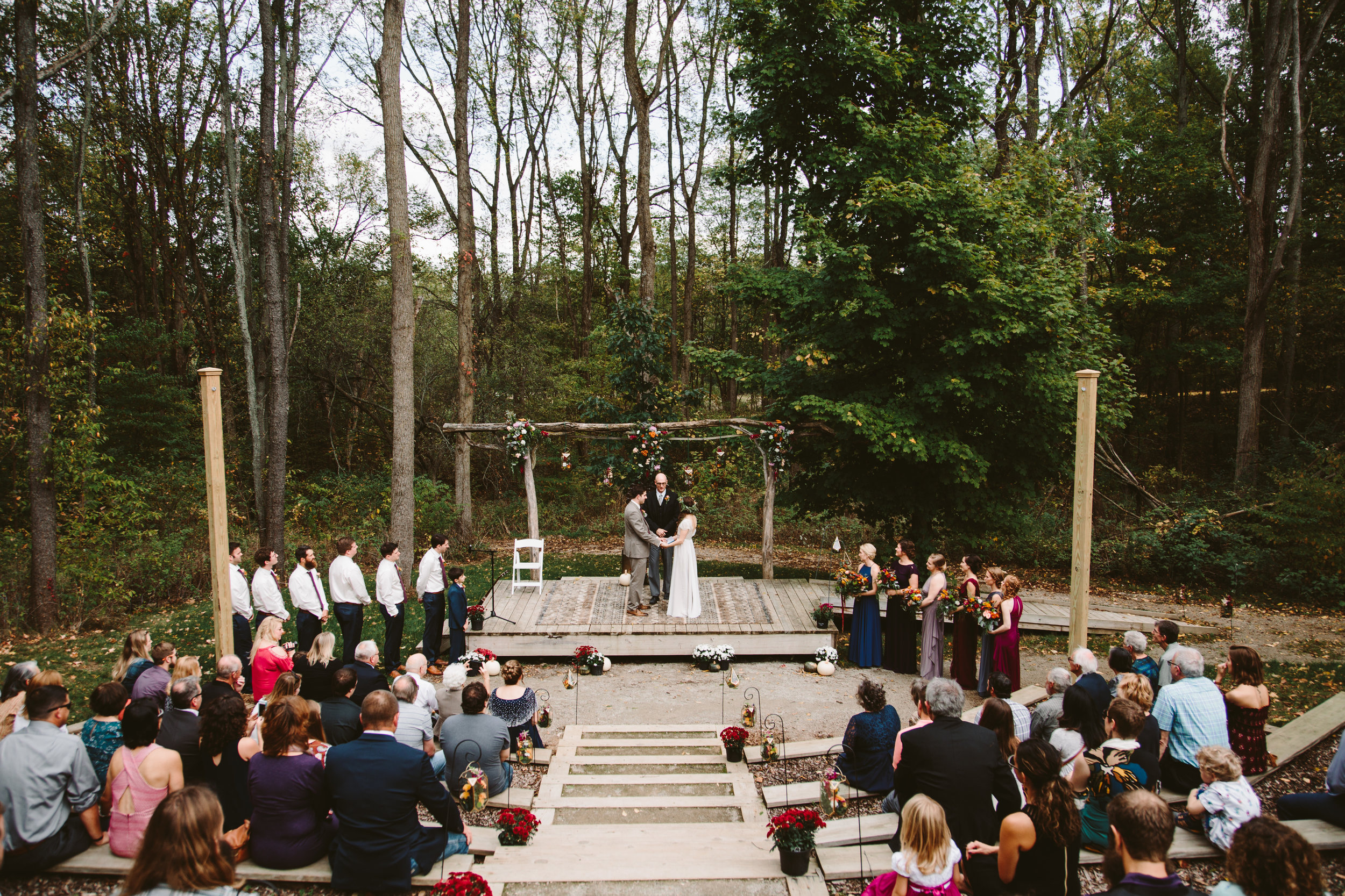 northern michigan small backyard wedding