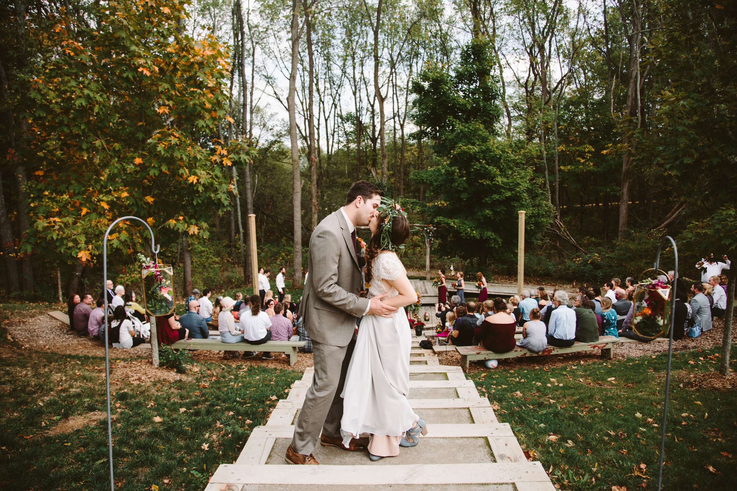 Bissell Treehouse bohemian wedding in grand rapids