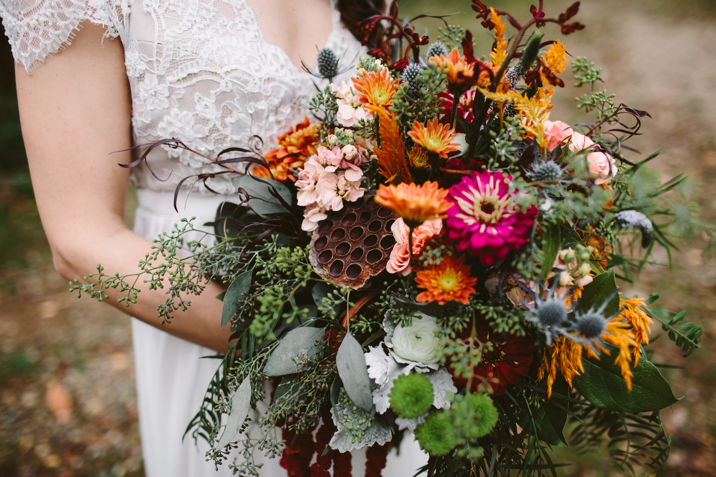 northern michigan whimsical bohemian floral arrangement