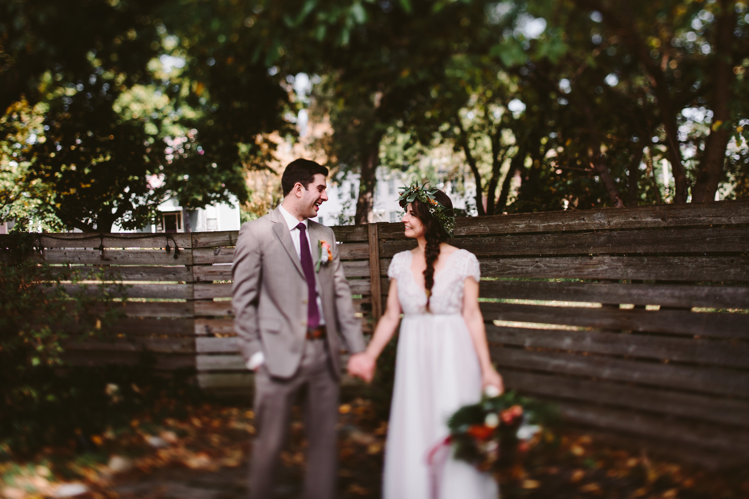 whimsical and bohemian grand rapids wedding