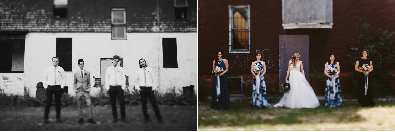downtown detroit bridal party photos